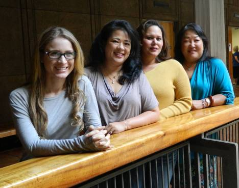 Heather Calderwood, Colleen (Young) Teramae (office manager), Geanine (Gomes) McIntosh, Sandra Morimoto-Ching.