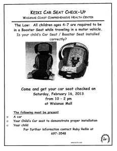 02162013 Car Seat Checkup