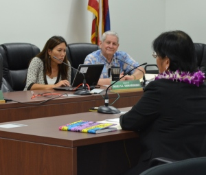 The Senate Committee on Education held a hearing for the consideration and confirmation of several Gubernatorial Nominees to the Hawaii Teacher Standards Board, including: Louise Cayetano, Justin Mew, and Felicia Villalobos. Following testimony, the committee recommended to advise and consent to the nominations.