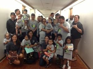 On 2/12/13, children and parents from Ka Pa'alana traveling preschool visited the Capitol.