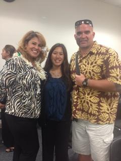 Lu Faborito, Maile, and Kalehua Krug at the Capitol on 3/13/13.