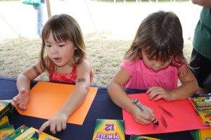 Jenna and Kelly hard at work!