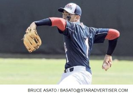 Star-Advertiser: Waianae's Kekoa Kaluhiokalani Jr. struck out seven in his one-hitter against Radford on Saturday 4/27/13.