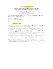 Public Testimony FORM SUPPORT Farrington Realignment