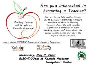 Teaching Info Session Flyer