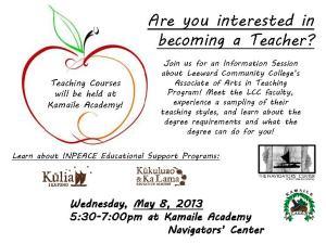 Teaching Info Session Flyer