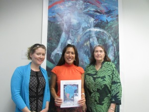 L-R: Tina Speed, Maile, and Cynthia Rezentes.