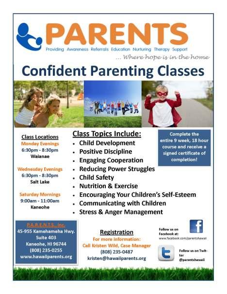 Confident Parenting Flyer 4 8 13