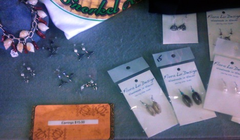 Flora Lu jewelry is available at Spinners Restaurant at Waianae Boat Harbor.