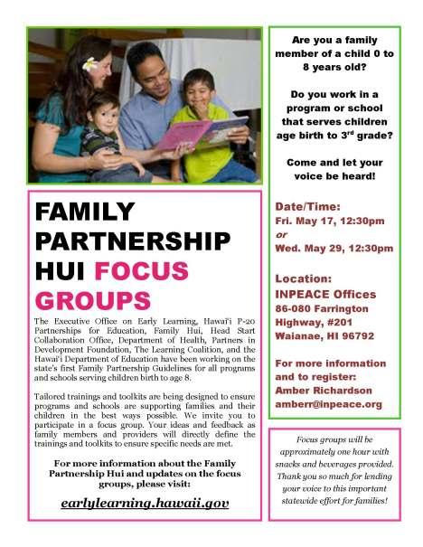 Nanakuli-Waianae Family Partnerships Focus Group