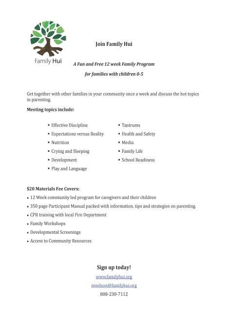Family Hui Program Info