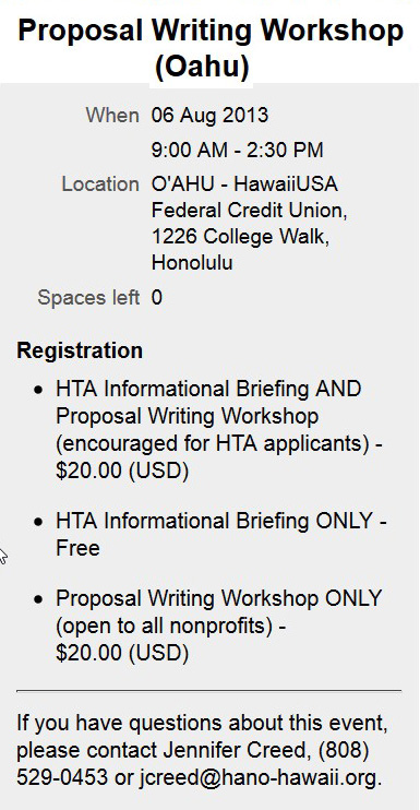 Oahu workshop. Retrieved from HANO on 7/31/13.