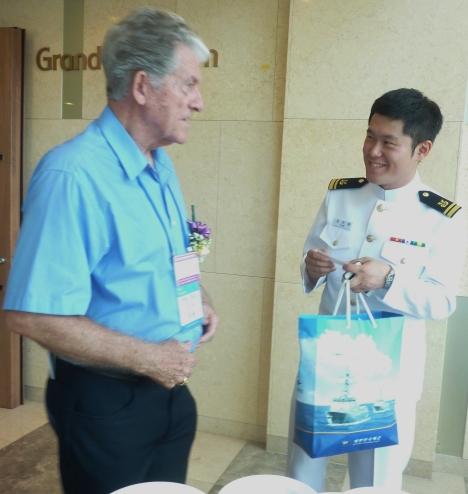 Brooks & Korean Navy LTJG.