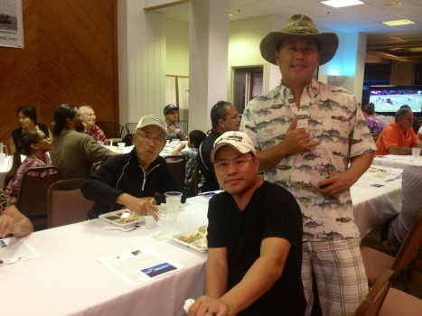 Golfers Sang Choi, Kenny Wong, and John Choi, of the Auto Accident Law Center team.