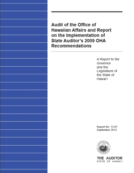 OHA Audit Sep2013
