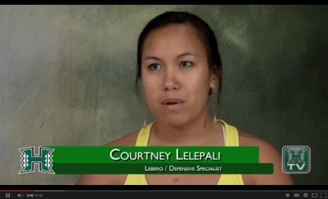 Watch Courtney Lelepali's senior class interview on YouTube. Click the image.