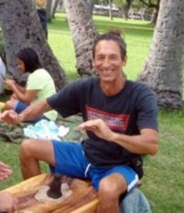 Vince Kana'i Dodge,  founder of 'Ai Pohaku.