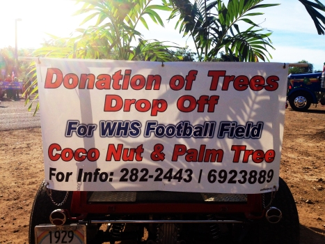 Coconut and palm tree donations sought to beautify Waianae High School's field in time for graduation.  Contact Cal Domen or Charmaine Padeken at 282-2443 or 692-3889 for more information on how to help.