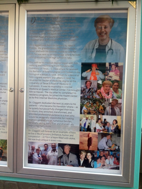 Dr. Claggett' plaque.