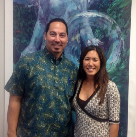 Sen. Shimabukuro recently met with Makaha resident  Keone Kali, who Governor Abercrombie named as Deputy CIO – Operations in the Office of Information Management and Technology.