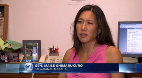 Sen. Shimabukuro on KHON2 news on 3/11/14, discussing SB 2687.