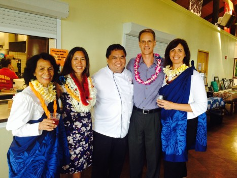 Mele Worthington, Sen. Shimabukuro, Mark Ka`aha`aina, Tom and Amy Zizzi