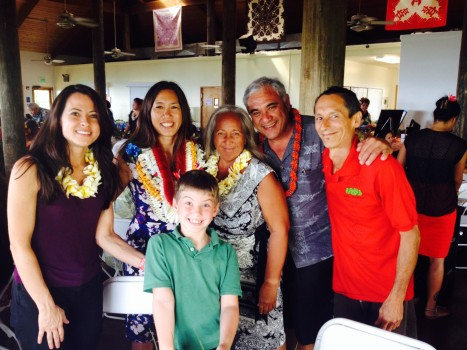Gina Mangieri, Sen. Shimabukuro, Rowen Ewalt, Melva and William Aila, Jr., Vince Dodge