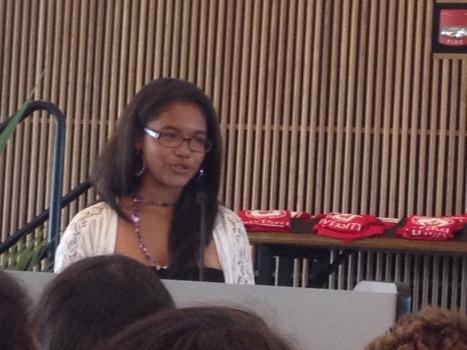 Student speaker Alyssa Tandal