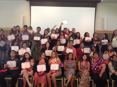 The graduates earned college credit over the summer for their participation.  Way to go!!