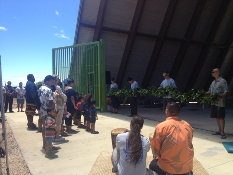Punana Leo o Waianae preschool students performed an oli.