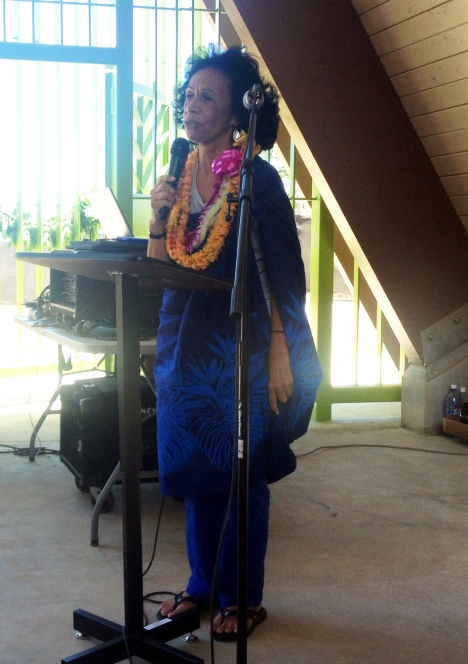 Waianae Hawaiian Civic Club president Mele Worthington.