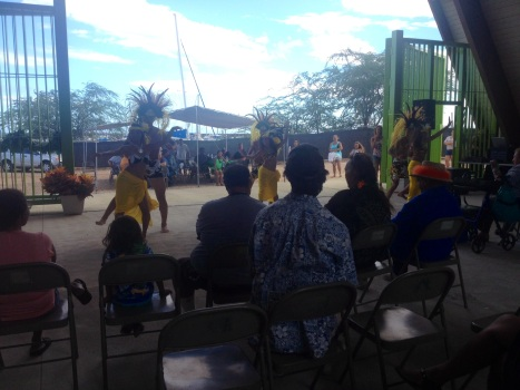 Hula dancers entertained the crowd.