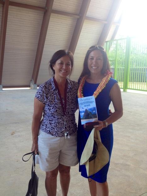Sen. Shimabukuro with her mother, Karen Young.