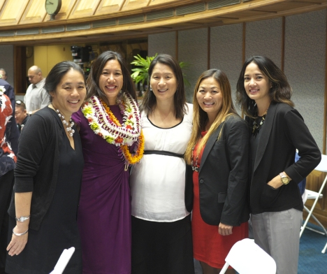 Jan. 21, 2015: Opening day of the legislature. Staff, friends, family, and supporters joined Senator Shimabukuro to celebrate the occasion.