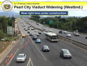 Pearl City Viaduct Widening Click image to enlarge