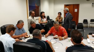 All Blacks players and the DOE participate in planning luncheon session at the State Capitol