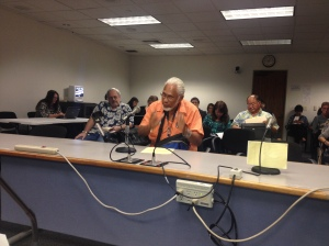 Art Frank of the Wai'anae Coast has testified in support of measures for a Nanakuli contraflow lane study, and for the rights of the disabled. Click image to enlarge