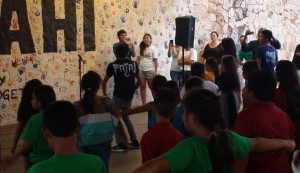 The event was full of surprises, students and staff were led in a Flashmob by Waianae High School student Kauhi Tomas.