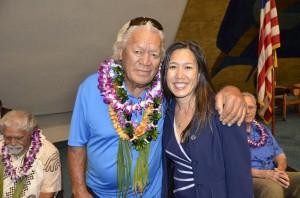Buffalo Keaulana and Senator Shimabukuro Click image to enlarge