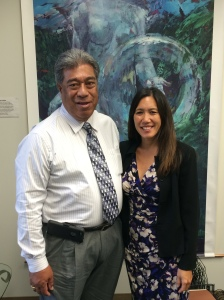 John Monis of the Hawaii Operating Engineers Stabilization Fund (left) visited Sen. Shimabukuro. For more information about the HI Operating Engineers visit: www.oe3.org/training/hawaii.html