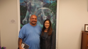 On 3/23/15, Leeward Community College-Waianae student Larry Holcomb interviewed Sen. Shimabukuro.  Mr. Holcomb, a Makaha resident, conducted the interview as part of an assignment from his Political Science class.