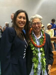 Senator Shimabukuro and Retired U.S. Senator Daniel K. Akaka Click image to enlarge