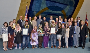 Hawaii Senate Group Photo with Awardees