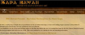 To visit the Kapa Hawaii website, head to: http://www.kapahawaii.com/