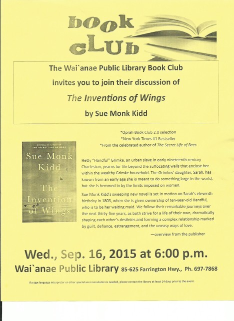 2015 September Book club