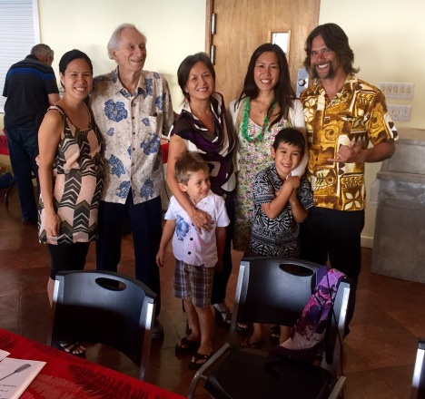 Summer Miles, Fred Dodge, Karen Young, Tyce, Sen. Maile Shimabukuro, Keani, and Shayne Sakoda