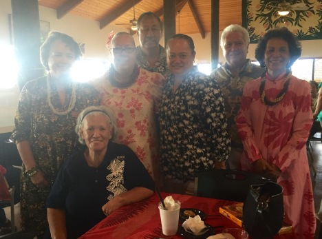 Waianae Hawaiian Civic Club members were active participants in the humorous live auction, which was emceed by John DeSoto