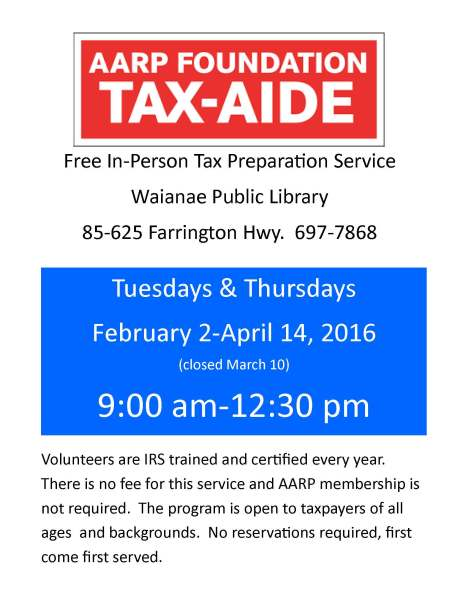 Free AARP Tax-Aide