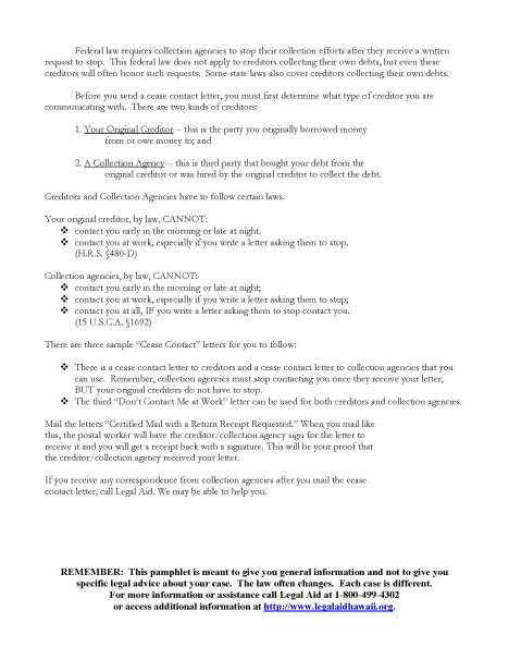 C10  Debt Collection Cease Contact Letters Packet_Page_2