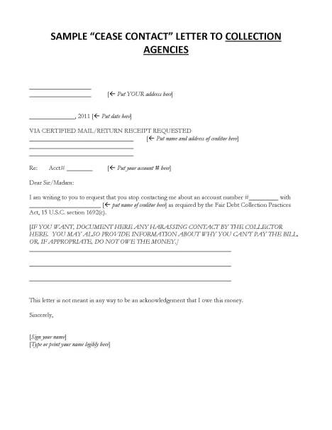 C10  Debt Collection Cease Contact Letters Packet_Page_4